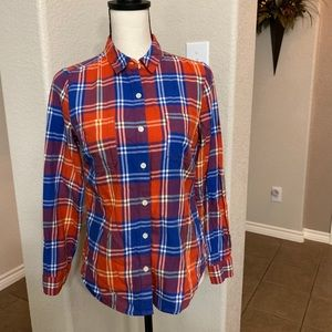 Old Navy button down long sleeve red/blue plaid